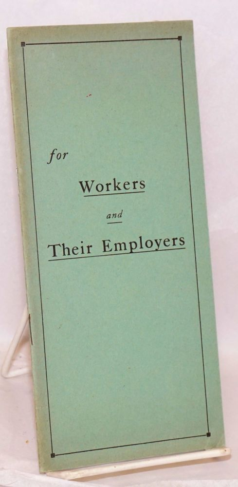 Compromise methods of harmonizing the relations between workers and employers. A defense of premium and bonus plans of compensation. Frank H. Timken.