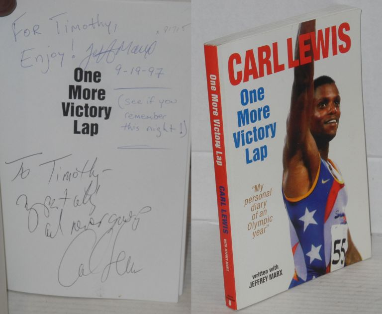 """One more victory lap; """"my personal diary of an olympic year"""" Carl Lewis, , Jeffrey Marx."""