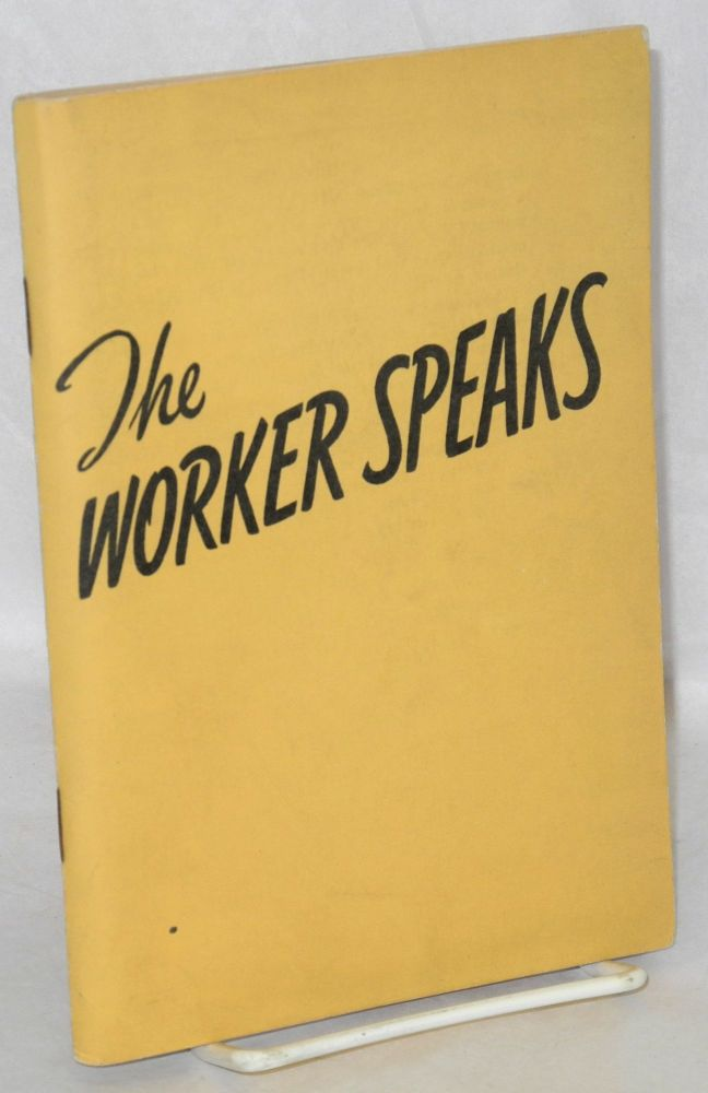 My job and why I like it. [Cover title:] The worker speaks. General Motors. Department of Public Relations.