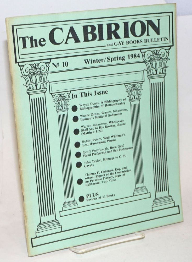 The cabirion and gay books bulletin; vol. 1, #10, winter/spring 1984
