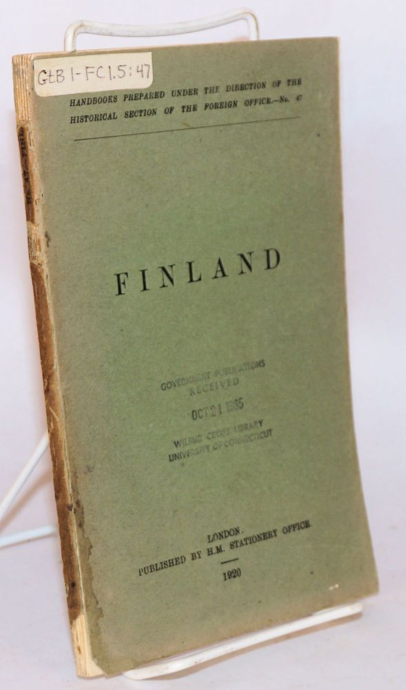Finland. G. W. Prothero, ed.