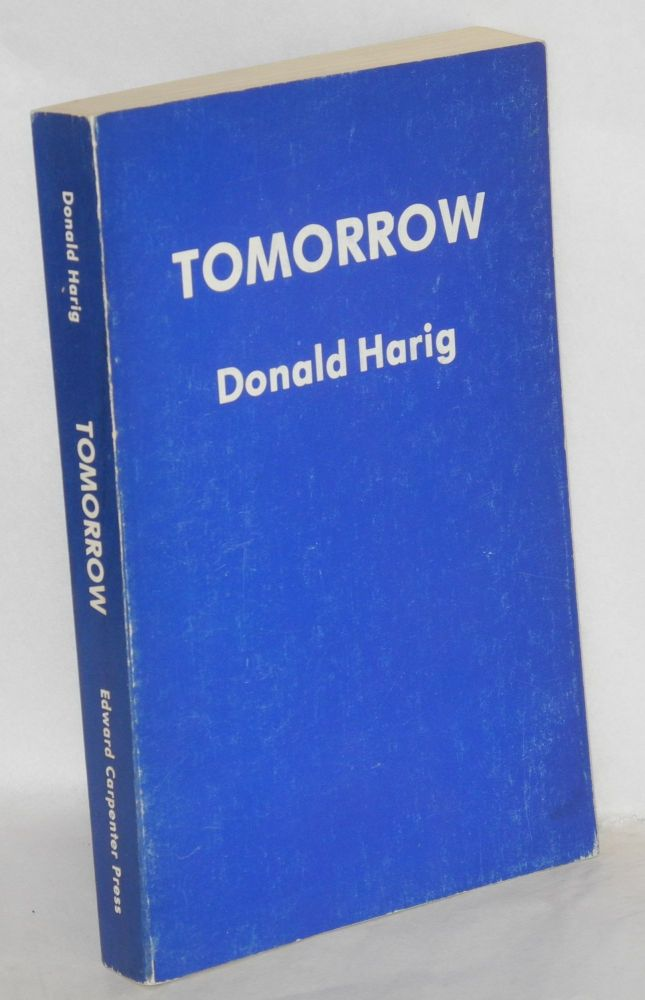 Tomorrow. Donald Harig.