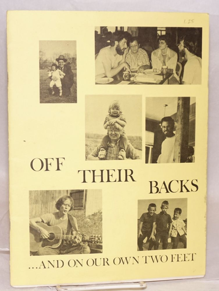 Off their backs. . . and on our own two feet: Overcoming masculine oppression in mixed groups; Masculinity and violence; Understanding and fighting sexism