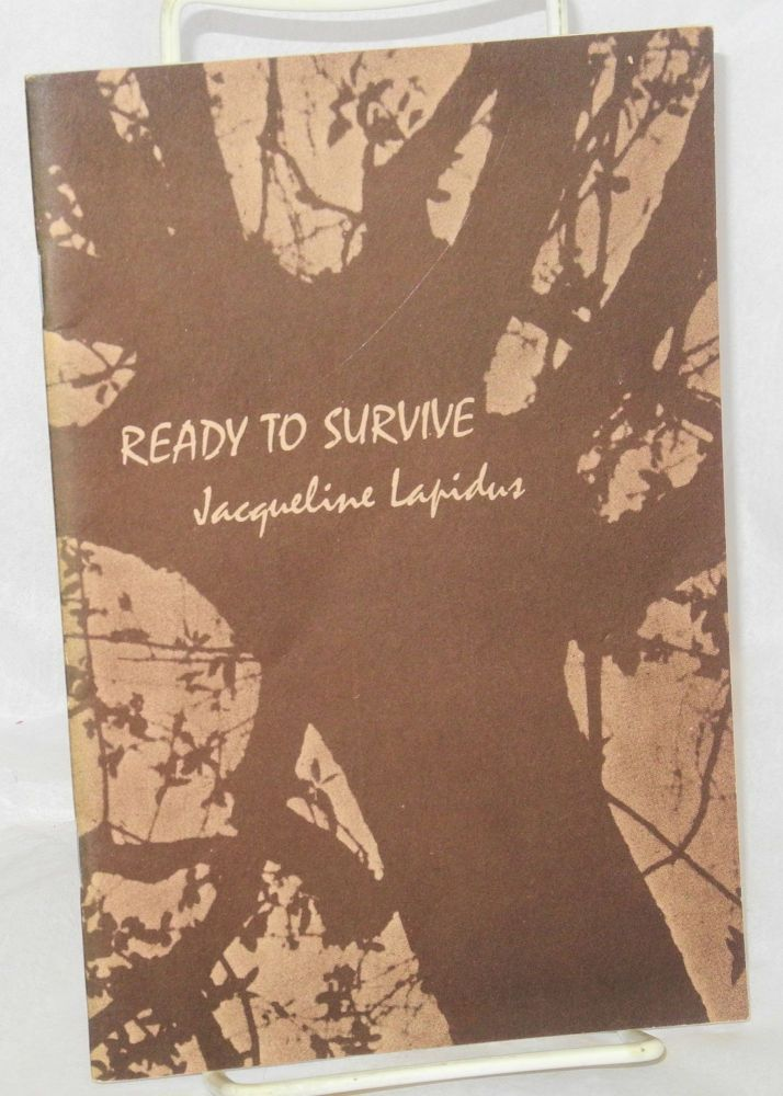 Ready to survive. Jacqueline Lapidus.
