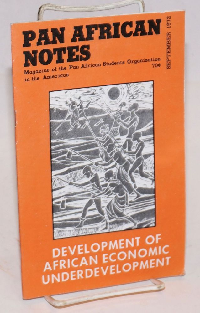 Pan African notes: magazine of the Pan African Students Organization in the Americas. Volume 2, Number 2 (September 1972). Mohammed Absoud.