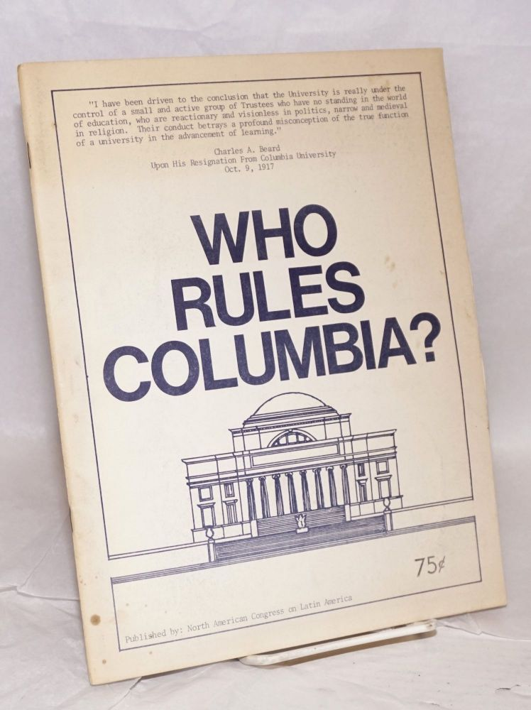 Who rules Columbia? North American Congress on Latin America.