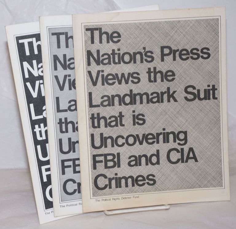 The nation's press views the landmark suit that is uncovering FBI and CIA crimes. Socialist Workers Party.