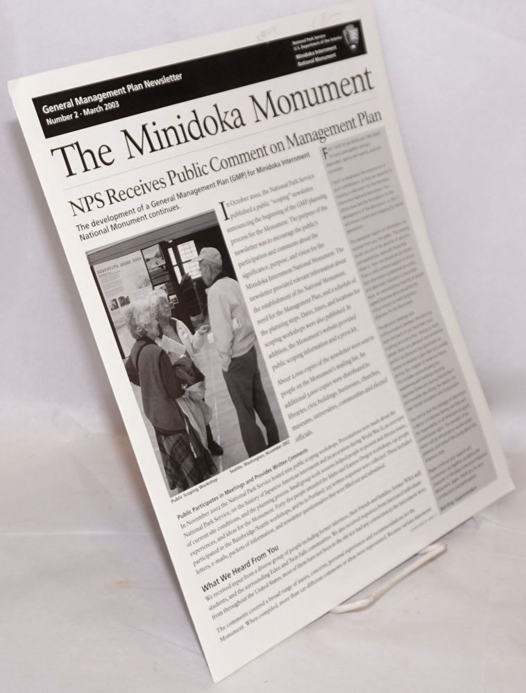 General management plan newsletter: number 2, March 2003: The Minidoka Monument