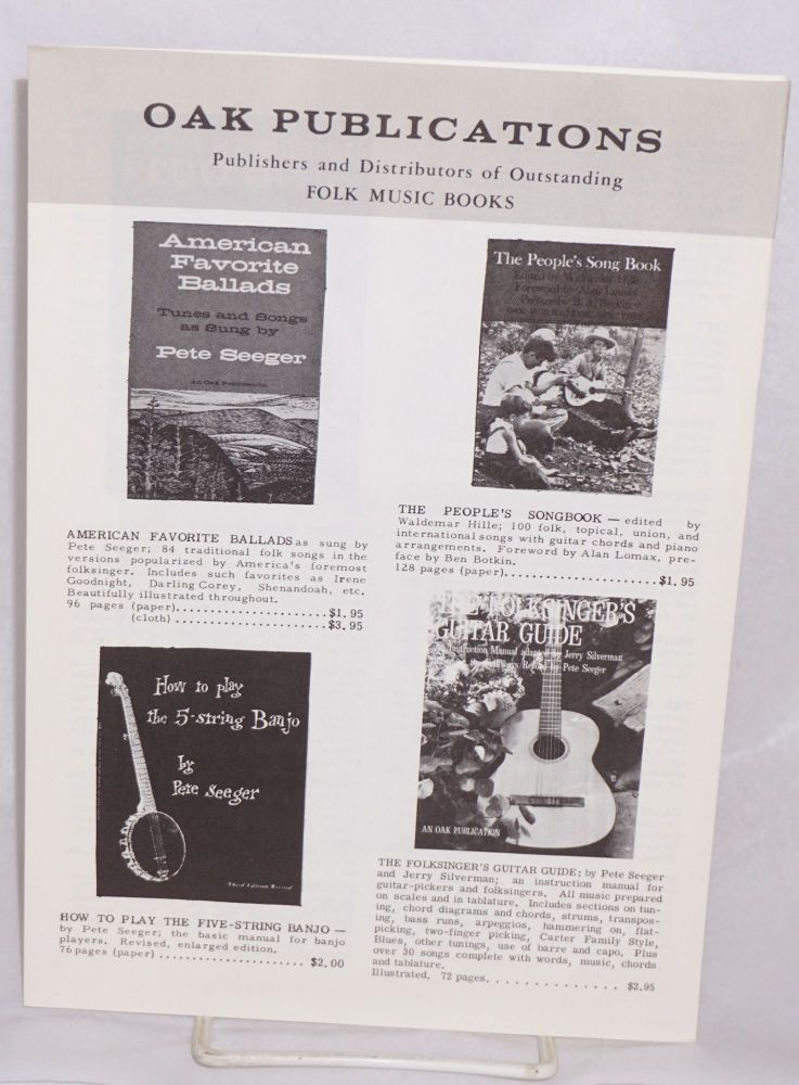 Oak Publications, publishers and distributors of outstanding folk music books