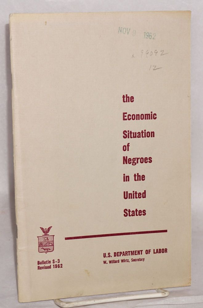 The economic situation of Negroes in the United States