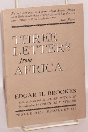 Three letters from Africa: to my former students at the University of Pretoria, the University of...