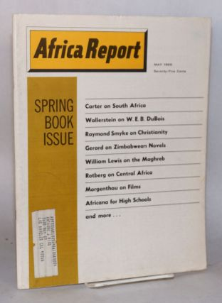 Africa report: vol. 13, no. 5, May 1968: Spring book issue
