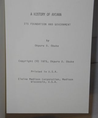 A history of Aviara; its foundation and government