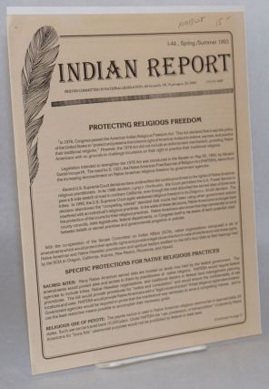 Indian report: I-44, Spring/Summer 1993