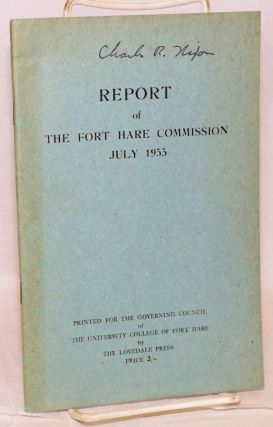 Report of the Fort Hare Commission July 1955