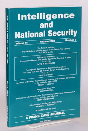 Venona and Alger Hiss [in Intelligence and national security, volume 15 Autumn 2000 number 3]....