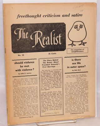 The realist [no.32]; freethought criticism and satire, the magazine of weightlessness. March,...