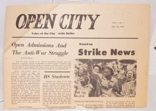Open city, voice of the city-wide strike. Vol. 1, no. 1, May 15, 1970