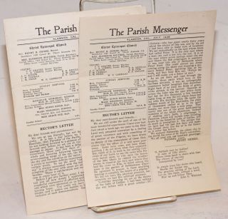The Parish Messenger: March & July,1928 [two issues]. Henry Shires