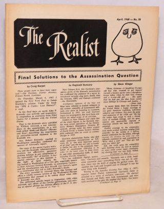 The realist [no.78]; Final solutions to the assassination question. Paul Krassner