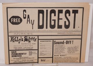 Gay Digest; vol. no. 1, issue no. 1, June 4, 1971