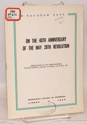 On the 40th anniversary of the May 28th Revolution; speech delivered by H.E. the Prime Minister...