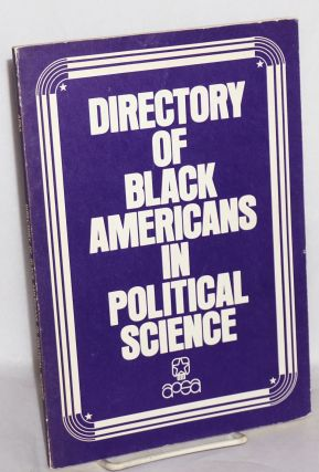 Directory of black Americans in political science, 1977