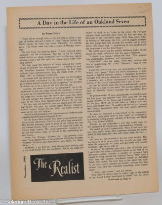 The realist [unnumbered supplement]; December, 1968. A day in the life of an Oakland Seven, by...