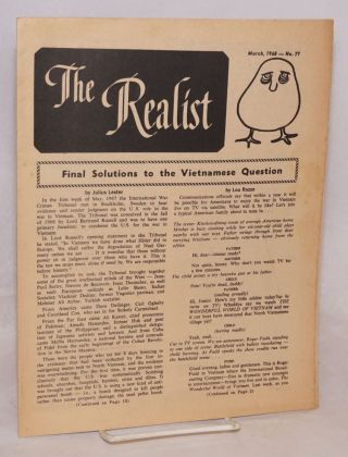 The realist [no.77]; March, 1968. Final solutions to the Vietnamese question. Paul Krassner