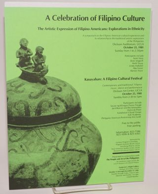 A celebration of Filipino culture; the artistic expression of Filipino Americans: explorations in...