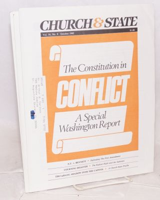 Church & State. Vol. 38, No. 1, January, 1985 to Vol. 38, No. 11, December, 1985.