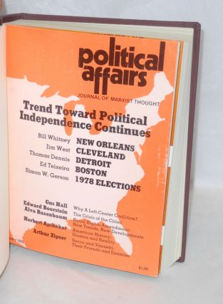 Political affairs, theoretical journal of the Communist Party, USA. Vol. 57, no. 1, January, 1978 to no. 12, December 1978