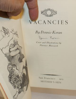 Vacancies; cover and illustrations by Florence Monzasch