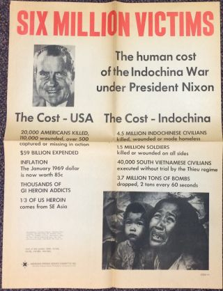 Six million victims; the human cost of the Indochina War under President Nixon [poster