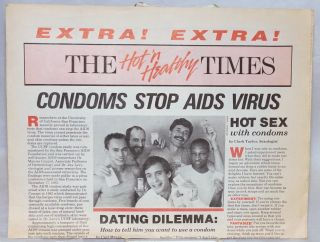 The Hot 'n Healthy Times Condoms Stop AIDS Virus