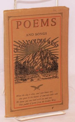Poems and Songs of the Golden West