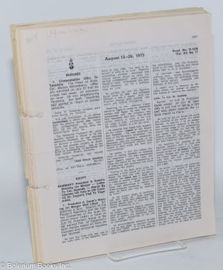 African Recorder; a fortnightly digest of African events with index (founded 1962) vol. xii no. 1 through 26 plus supplement missing number 4