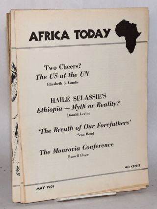 Africa today; broken run from vol. vii, no. 4 through vol. x, no. 2