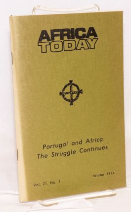 Africa today: a quarterly, vol. xxi, no. 1, Winter 1974