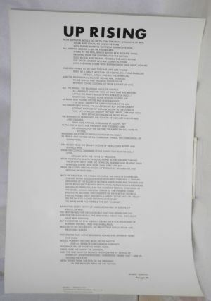 Up rising: Passages 25 [broadside]. Robert Duncan