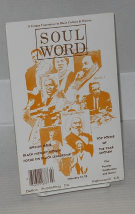 Soulword; a unique experience in black culture and history, vol.V, no. 1. Dennis W. DeLoach