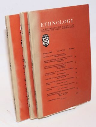 Ethnology: an international journal of cultural and social anthropology; volume VII, numbers 1, 2...