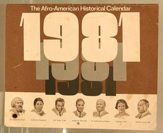 The Afro-American historical calendar 1981