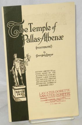 The temple of Pallas-Athena (posterité) [publicity brochure]. Georges Lewys, Gladys Adelina Lewis