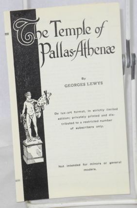 The temple of Pallas-Athena publicity brochure. Georges Lewys, Gladys Adelina Lewis