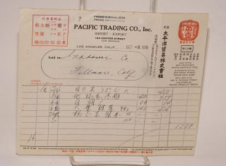Invoices for Pacific Trading Co., Inc. import - export Los Angeles, CA