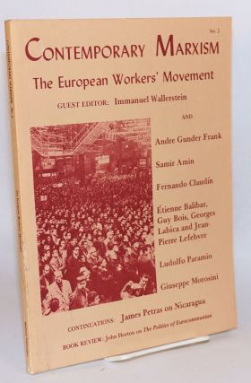 The European workers' movement. Immanuel Wallerstein, ed