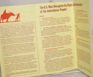 Contiued U.S. - Saigon violations of the Paris Peace Agreement; handbill-mailer for the organization
