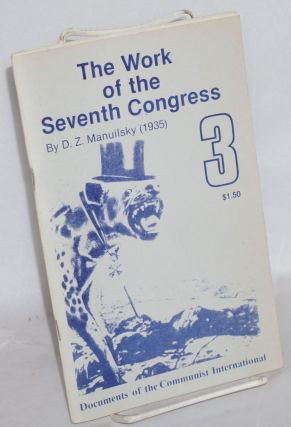 The work of the seventh congress. D. Z. Manuilsky