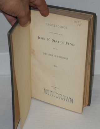 Proceedings of the trustees of the John F. Slater Fund for the Education of Freedmen, 1893-1903